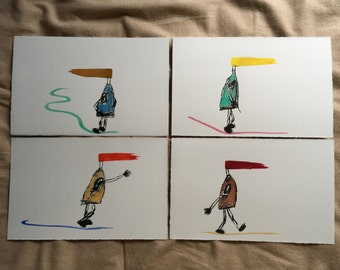 Ink and Watercolor (4 series)