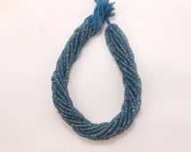 5 strands AAA Quality Best Price London Blue Coated Faceted Rondelle Gemstone Beads Wholesale lot 4mm