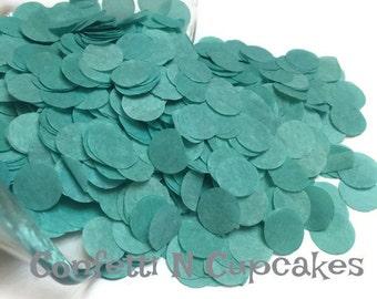 Tissue Paper Confetti/confetti throw/baby shower decor/Teal confetti/wedding reception/birth announcements/circle confetti/beach wedding/