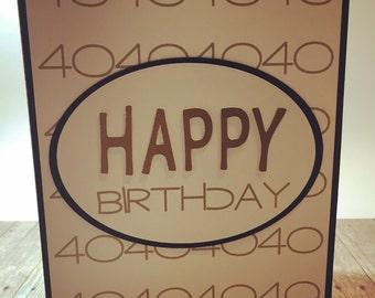 Custom Handmade Birthday Card with Age