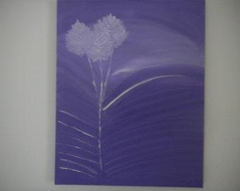 LilaBild, white LilaBild, acrylic purple, wall art, acrylic painting, 40/50