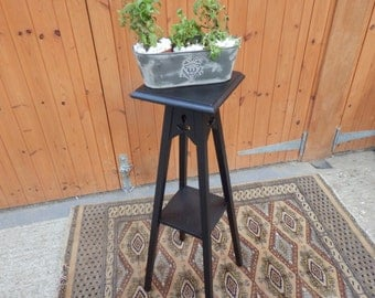 Vintage Plant Stand , with two shelves , painted in autentico nocturnal