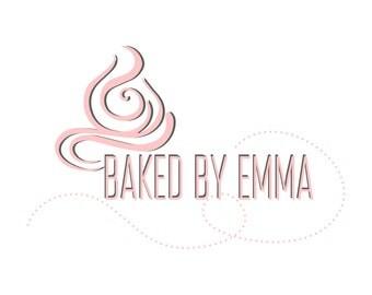 Bakery Cake logo design, topping bakery logo ,cupcake logo design,cream logo, business logo design,cupcake logo,logo for bakery pink