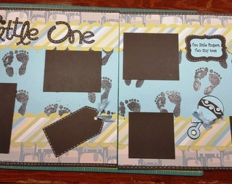 Little One Scrapbook Page-2 Page Spread