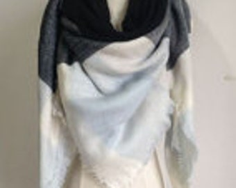 Black/Blue Pastel Scarf