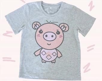 Piglet tshirt Toddlers tshirts kids clothes