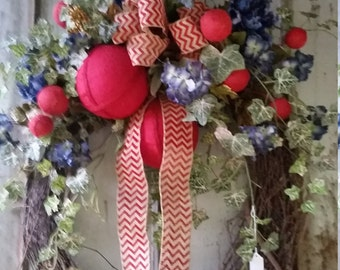 Americana/4th of July wreath