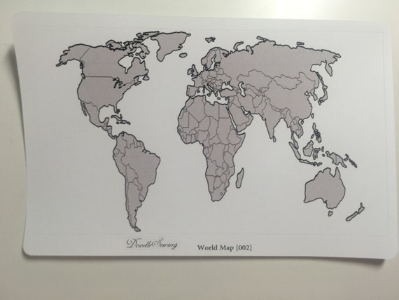 Items similar to world map bullet journal sticker erin condren items similar to world map bullet journal sticker erin condren inkwell press plum paper a5 rak tracker order tracker on etsy sciox Images