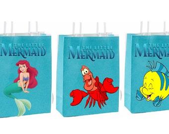 Little Mermaid birthday Party Favor Bag~ Birthday party decor