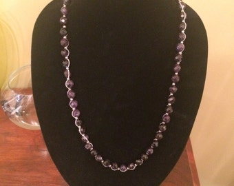 Vintage faceted amethyst beads necklace and Cold water creek
