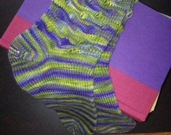 hand knit socks - Bellatrix