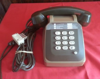 Old PHONE SOCOTEL S63 Green Khaki to keys 80s VINTAGE