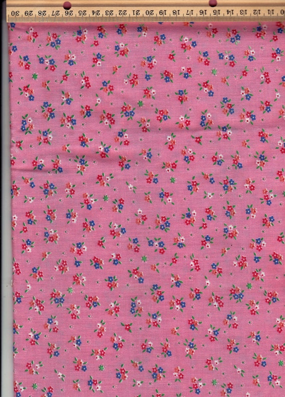 Bright pink floral cotton crafts sewing quilting material for Children s material sewing