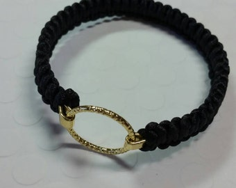 Gold and Black Braided Bracelet