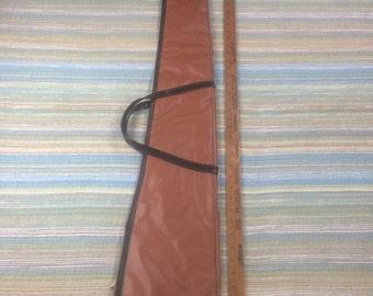 "Vintage 1960s rifle/shotgun bag pleather 48"""