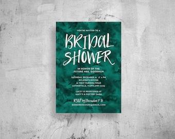 watercolor bridal shower invitations // watercolor bridal shower invite // printable // custom