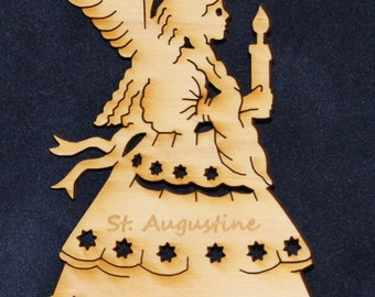 Angel (4) Ornament~Wood~Personalized FREE