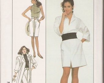 Vintage Simplicity sewing pattern 8494 misses' 6-10 coatdress skirt top shirtdress OOP