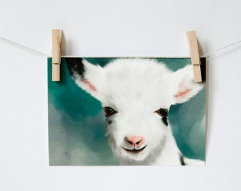 Postcard 'little goat'