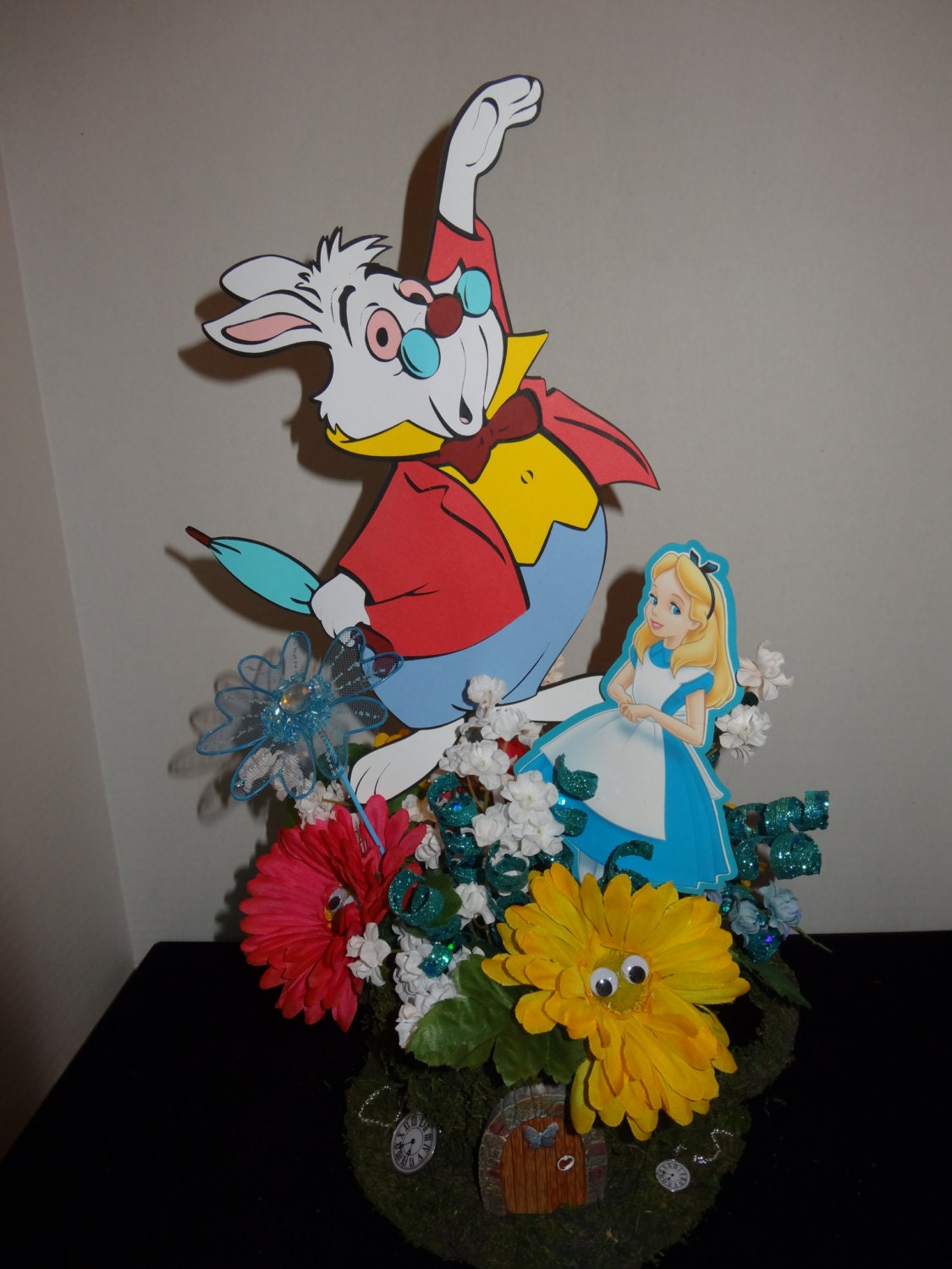 White rabbit centerpiece