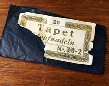 Nadelbriefchen vintage wallpaper needles sewing needles