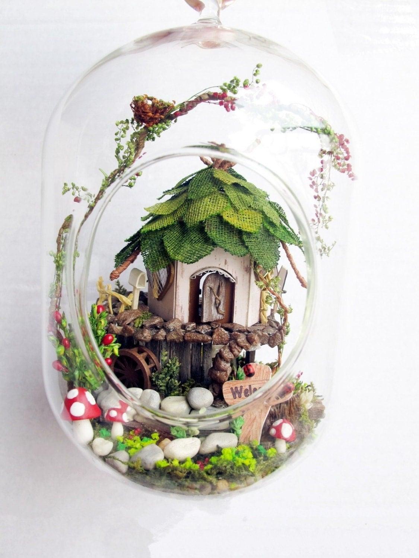 fairy house tree house terrarium diy kit set elf gnome. Black Bedroom Furniture Sets. Home Design Ideas