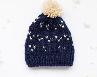 Cozy Winter hat with pompom