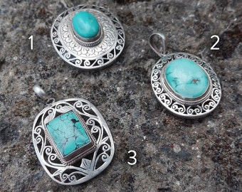 925 Silver and turquoise pendant