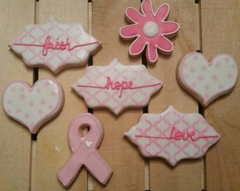 Breast Cancer Cookies - Fight Like a Girl Cookies. Order for one dozen