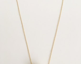 Gold Plated Black Stone Necklace