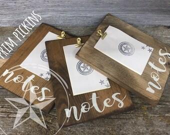 wood clipboard // rustic wood clipboard // notes