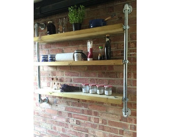 Wall Hung Industrial Style Shelving