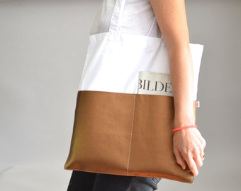 Jute Bag, Cotton Bag, White Bag, Copper Color
