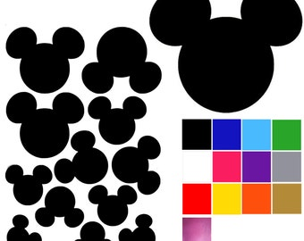 Mickey Mouse Wall Decal x 12. Mickey Mouse Wall Stickers. 8 Glitter Colours. Self Adhesive Easy Peel. FREE UK SHIPPING.