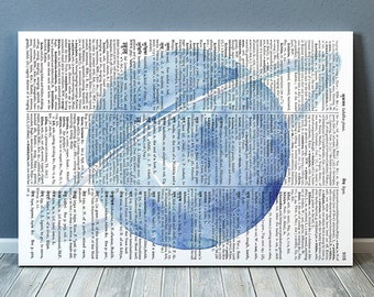 Space decor Dictionary poster Watercolor print Planet print RTA2053