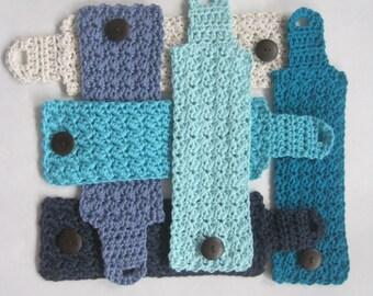 Coffee Mug Cozy - Blue Cozy - Coffee Cup Cozy - Coffee Mug Sleeve - Crochet Coffee Mug Cozy - Teacher Gift - Stocking Stuffer - Choose Color