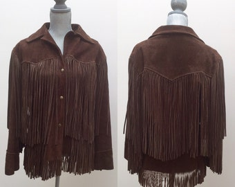 Long Fringed suede 70's Jacket