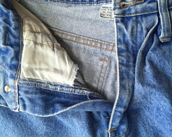 Retro women's Faded Wash Pleated Jeans 80's