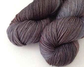 Sock Hand Dyed Revelry Sock Fingering 4 ply 80/20 Australian Merino nylon knitting yarn Australian Raven