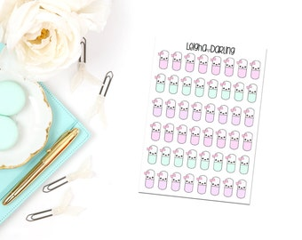 Kawaii Pill Planner Stickers