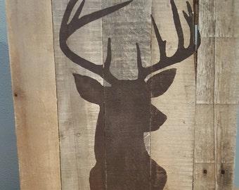 Rustic Pallet Wood Deer Sign