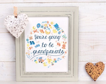 You're going to be grandparents - printable sign