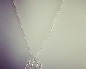 Necklace Silver 925/1000 rosette, jewel of creator, mother