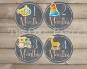 Baby Monthly Stickers ,baby stickers,baby month stickers,baby month stickers boy,baby month stickers girl