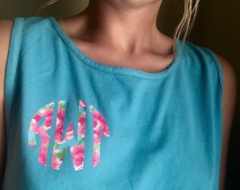 Lilly pulitzer monogram tank top
