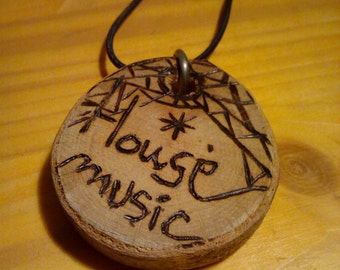 Wooden Necklace || House Music || Natural Jewely