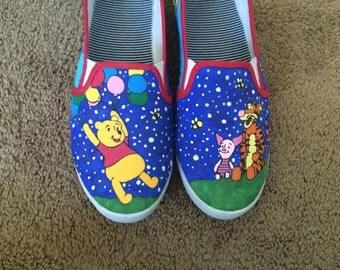 Hand Painted Custom Winnie The Pooh Shoes