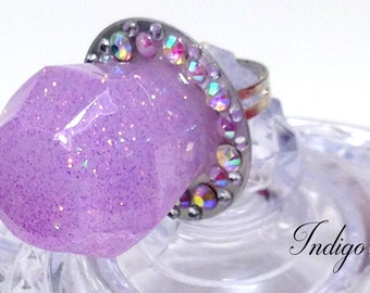 Grape Candy Rock Ring