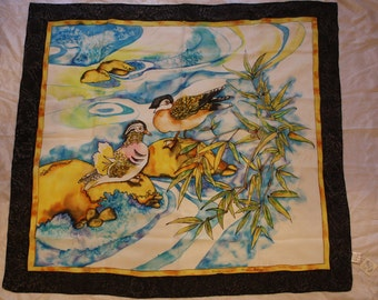 SILK SCARVES New with ducks
