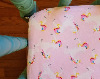 Unicorn Crib Sheet baby bedding rainbow